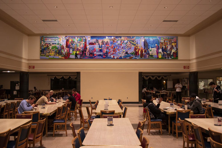 Wright Quad murals