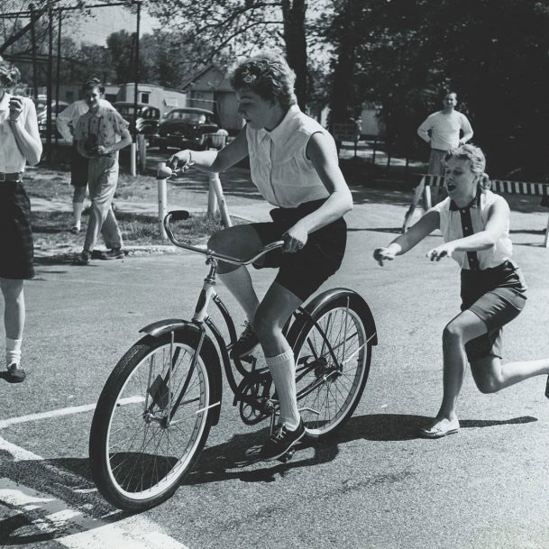 woman participating in the little 500