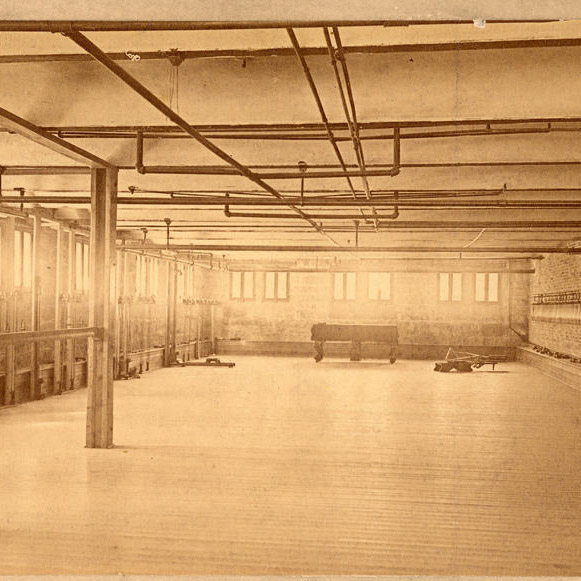 women's gym in the basement of Wylie Hall